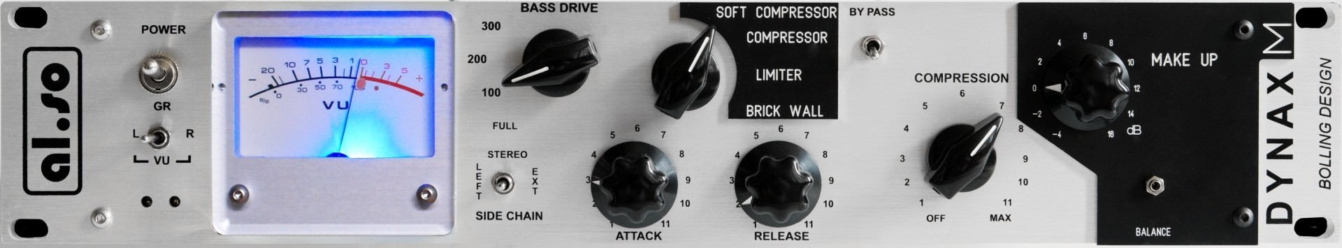 Al.So Dynax M high-end Mastering Opto Compressor / Limiter